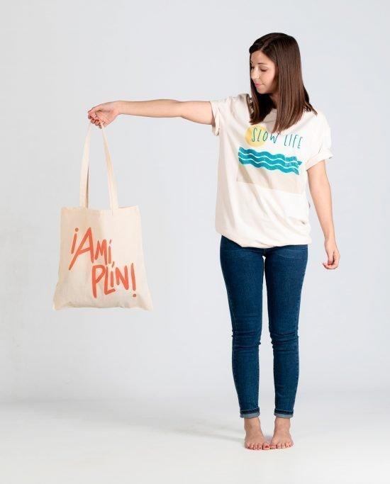 """Tote Bag """"A Mi Plin"""" Diseño Debutánt"""