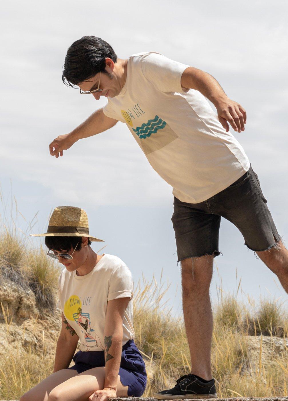 "Camisetas unisex ""Slow life"" y ""Slow life geometric"""
