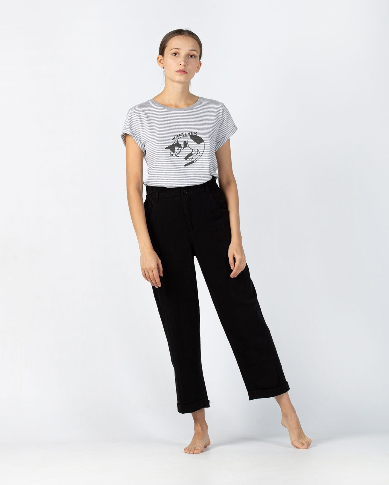 camiseta a rayas orgánica