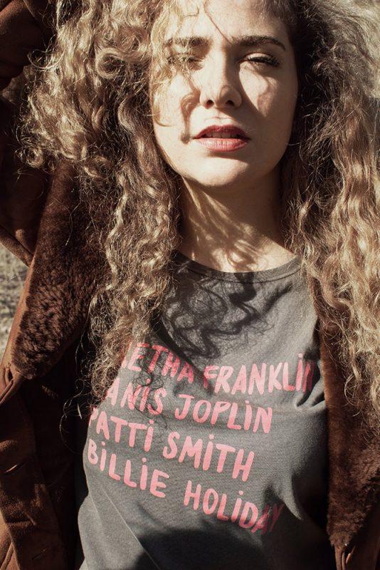 """Camiseta de comercio justo """"Aretha"""", corte mujer, algodón orgánico certificado."""