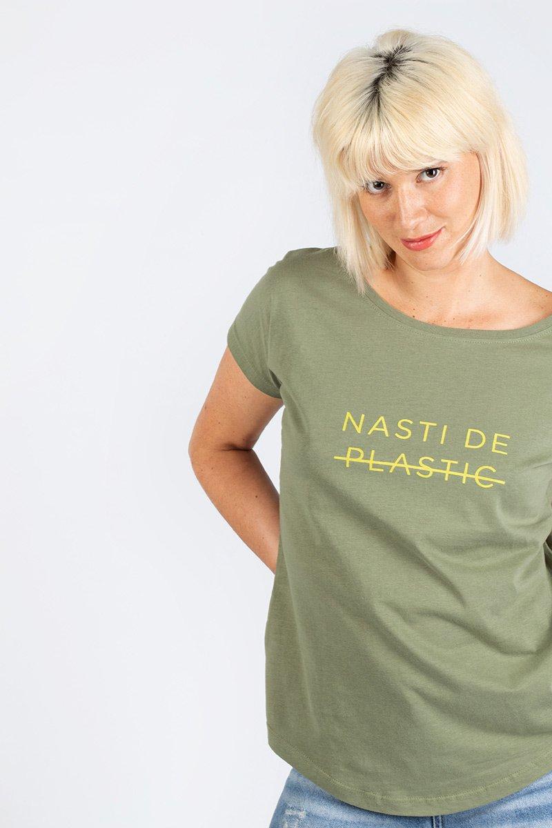 Camiseta Nasti de plastic verde
